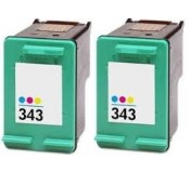 Aanbieding: 2 x HP 343 Color